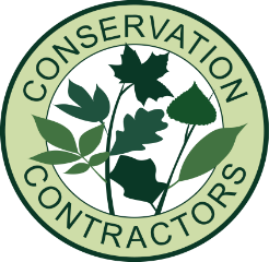 Conservation Contractors Logo. Fencing, Tree Surgery, Tree Surveys, weed control and mitigation