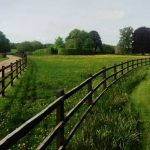 Post and rail fencing at Manton Grange, Marlborough