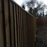 Domestic close board fencing, Devizes