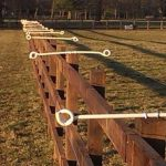 image of equestrian fencing with electric wires