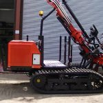 Protech Evo2 tracked self-propelled fence post driver.