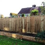 Nice close board garden fence