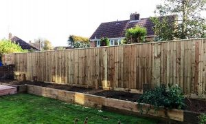 domestic close board fencing