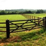 equestrian post and rail fence