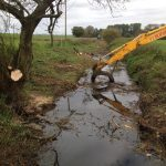 tree clearance over a tributary to the River Avon