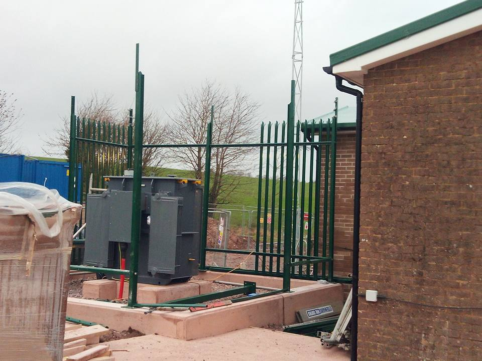 Erecting a Faraday Cage for one of our utility clients