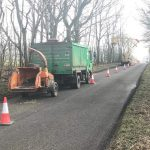 Roadside tree works over the highway for the last few days at Bulford