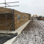 Snow on the ground at the new equestrian yard, Chippenham
