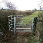 Gate maintaining Rights of Way in Sherston