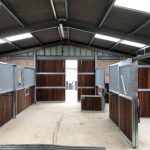 Inside the new build stables in Chippenham