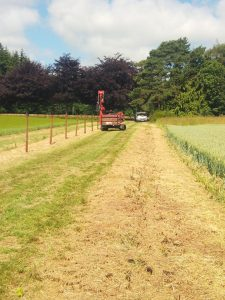 stock netting fencing - 6000 m contract for new shooting enterprise near Blandford