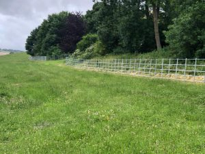 Galvanised estate fencing Salisbury Plain