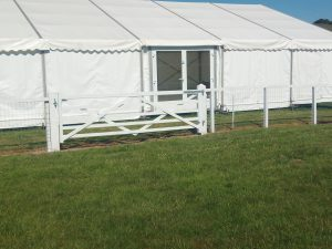 Gate at Barbury Horse Trials, Marlborough