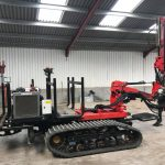Protech Evo2 tracked self-propelled post driver's first service
