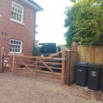 Close board fencing and hardwood iroko timber gates in Marlborough