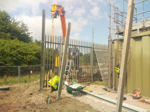 Palisade Fence for a utility site in Mere