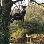 Clearing back overhanging trees in Bradford on Avon