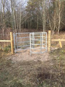 Footpath gates erected at Tidworth
