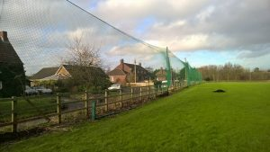 We erected a 5m high x 70m long ball stop net for Bishop Canning's CC