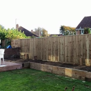 closeboard domestic garden fencing