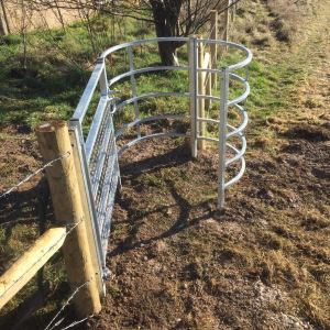 footpath gate near Tidworth