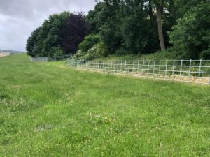 galvanised estate fencing