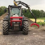 Valtra fitted with cab mounted botex