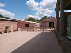 Manton Downs Racing Yard Project - five-bar gate