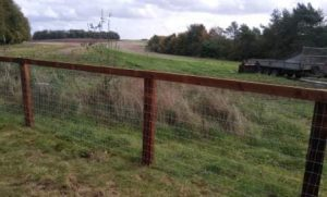 More Tornado equinet and creosote timber fencing and paddocks near Marlborough
