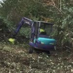 Making quick work of demolishing brambles in Tidworth