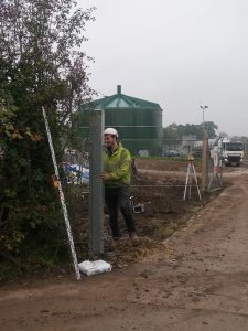 pair of steel and chain link gates with a 6m span 1