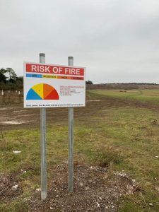 Erecting 38 warning signs around Salisbury Plain 1