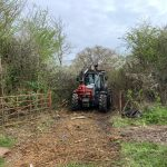 Mulching at Siston for Forestry Commission