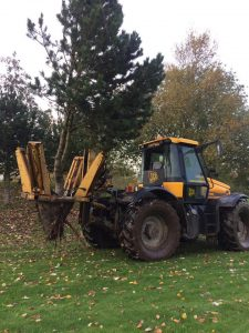 Our Tree Spade hard at work in Stockport
