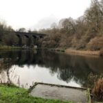 fence project to protect the disabled fishing lake at Tucking Mill Nr Bath