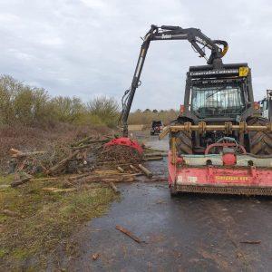 Clearing of dense scrub at Blandford Camp