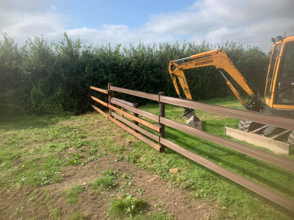Plastic Fence on Creo posts for equestrian yard